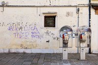 "<span style=""font-size:14px;"">Phone Booth, Venice, Italy"