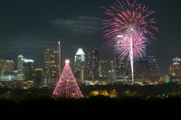 Tree of Lights ~ Austin Skyline ~ Fireworks